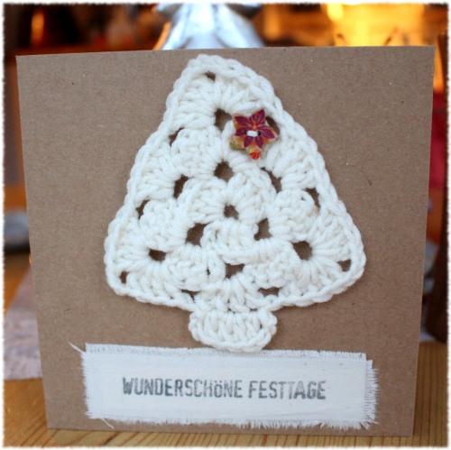 Häkeln, stempeln, schneiden, kleben Weihnachtskarten 2015 – undiversell