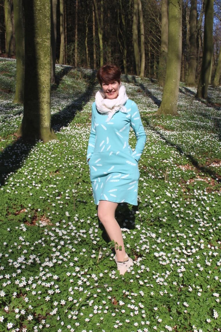 Jerseykleid_selbstgenaeht_Pölchower_Wald