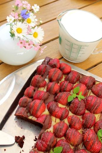 veganer-Brownie-Erdbeerkuchen17