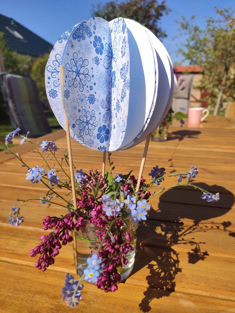Heißballon-Blumendeko02